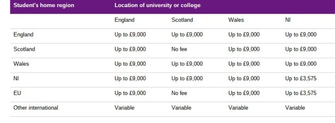 university degree fee